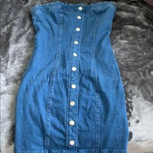 Jean tube dress